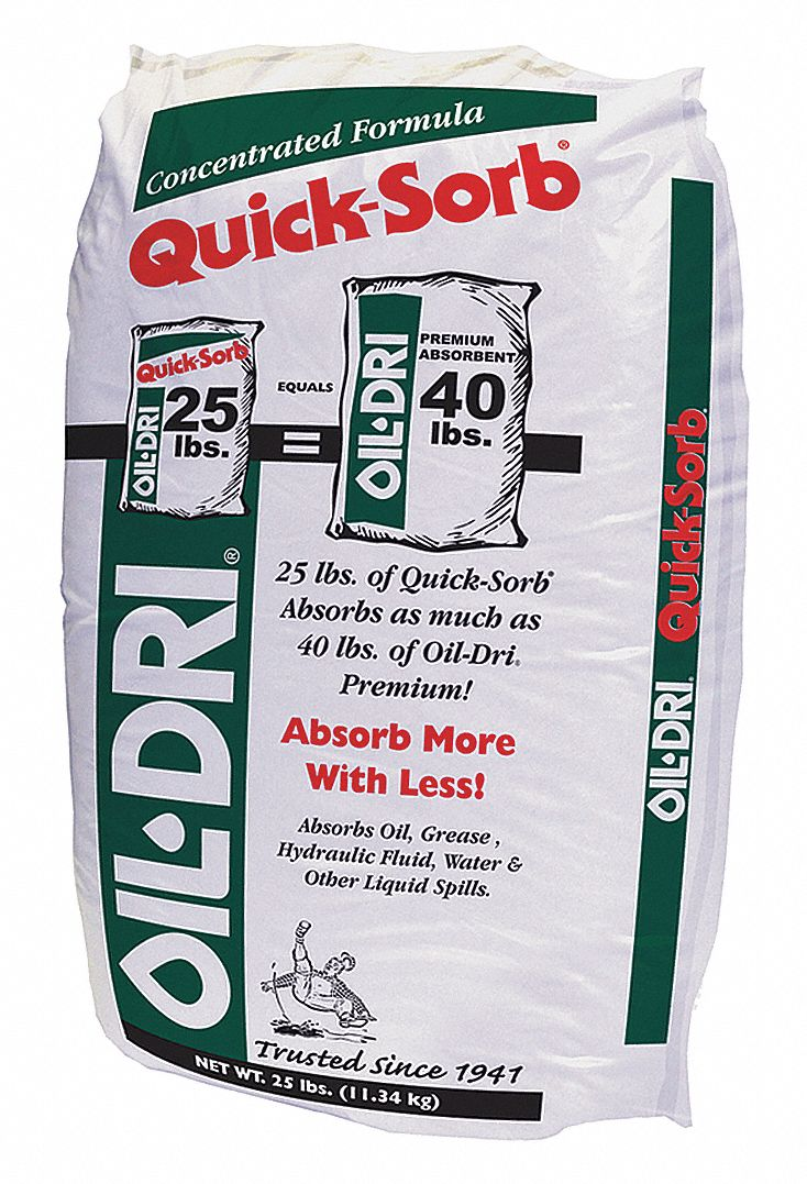 Loose Absorbent,  Universal,  Montmorillonite Clay,  25 lb