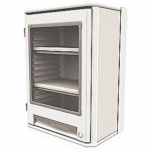 "Wall-Mounted Cabinet, 29-1/2"" Overall Height, 21-1/2"" Overall Width, Number of Shelves 2"
