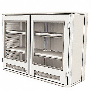 "Wall-Mounted Cabinet, 29-1/2"" Overall Height, 41-5/16"" Overall Width, Number of Shelves 2"