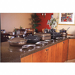 Sauteuse Buffet Server,Black w/Chrome