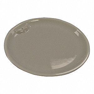 "14-1/8"" x 14-1/8"" x 3/4"" 1-1/4 Qt. Porcelain Food Pan"