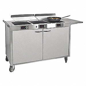 208V, 6100 Watt Induction Cooking Station; Includes (3) Ranges, (2) Air Filter Systems, and Power Ma