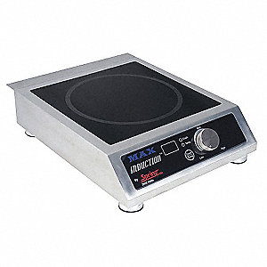 220V, 2600 Watt Portable Induction Range; Includes Cord And Plug