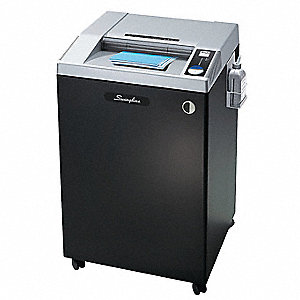 Commercial Paper Shredder, Strip-Cut Cut Style, Security Level 2