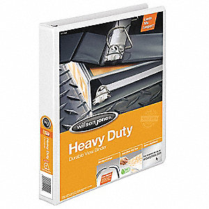 Heavy Duty Binder,View,D-Ring,1in,White