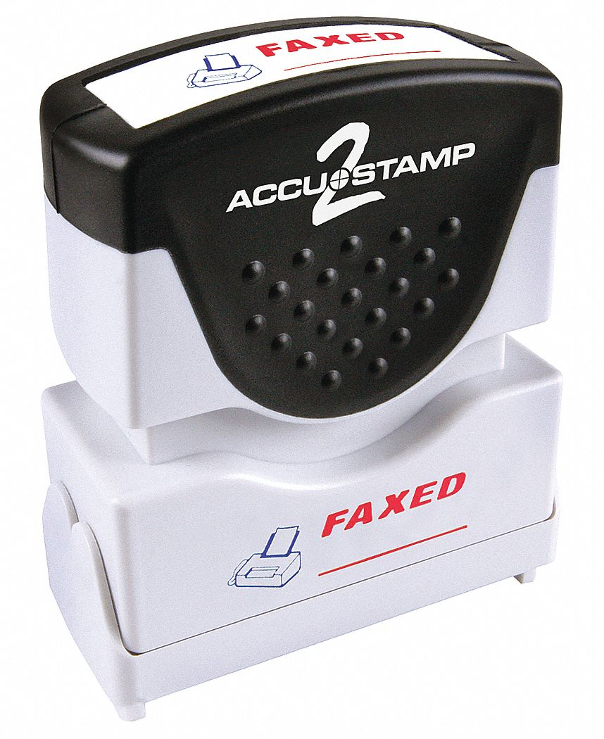 Cosco Plastic Message Stamp (Red/Blue Ink Color). Model: 038917