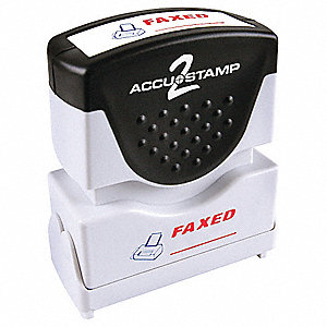 ACCU-STAMP 2 Shutter FAXED 2 Color