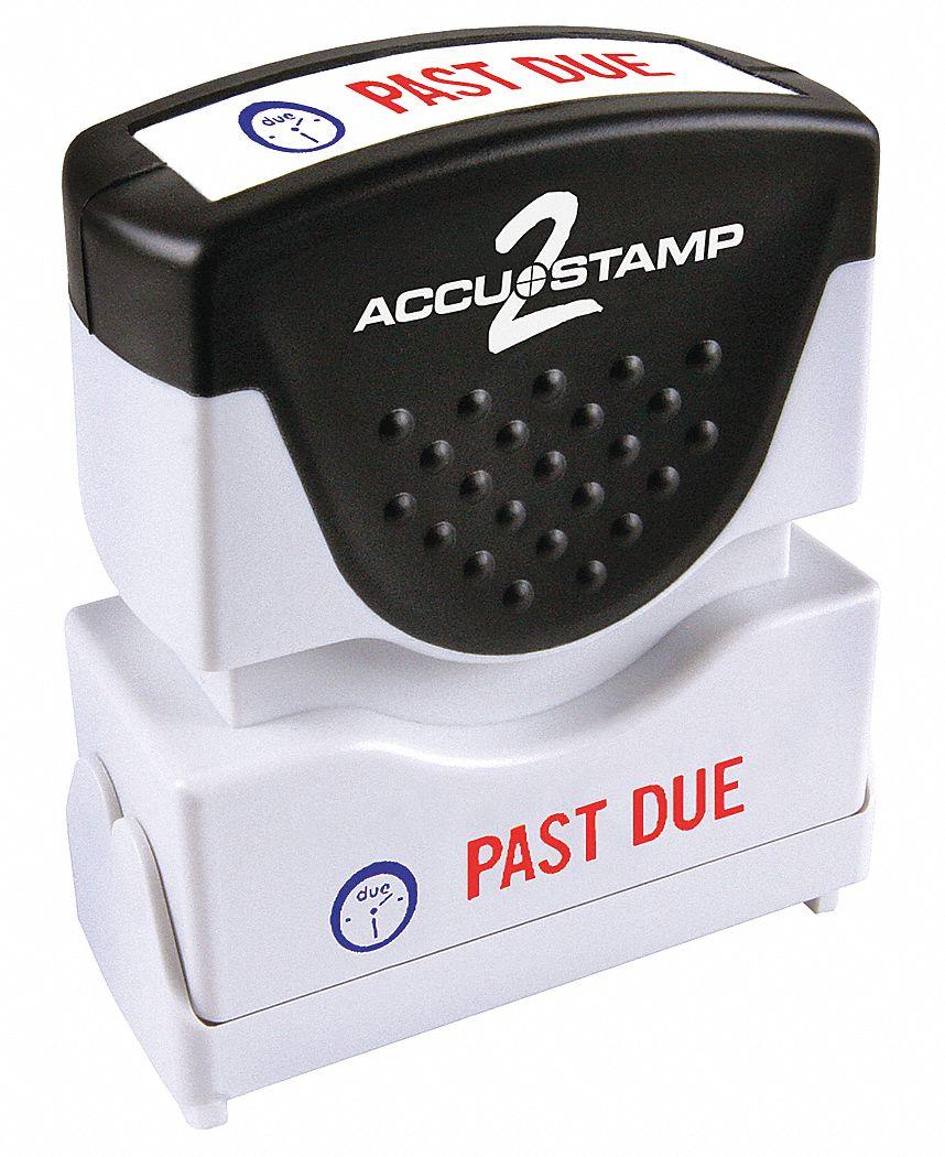 Cosco Plastic Message Stamp (Red/Blue Ink Color). Model: 038919