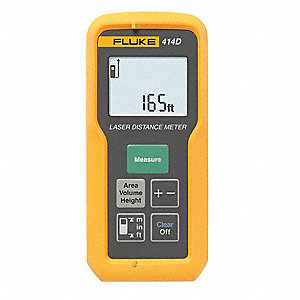 "Laser Distance Meter, ±1/8"" Accuracy, Up To 165 ft. Range"