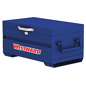 "Blue Jobsite Chest, Width: 31"", Depth: 18"", Height: 17-1/2"", Storage Capacity: 4.5 cu. ft."