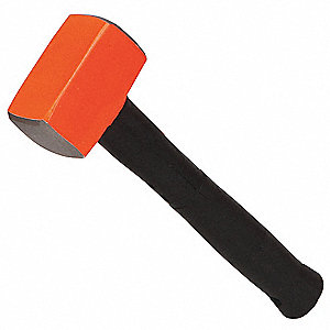 Sledge Hammer,2-1/2 lb.,12,Rubber/Steel