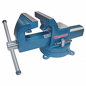 "Heavy Duty Machinist's Vise, 5"" Jaw Width, 6-1/2"" Max. Opening, 2-7/8"" Throat Depth"