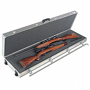 Gun Case,2 LG Scoped Rifle with Wheels
