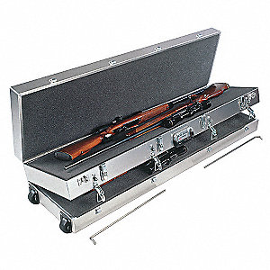 Gun Case, 4 LG Scoped Rifles, 52 x 14 x 9