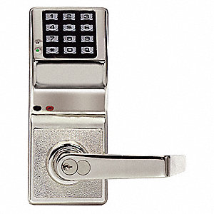 Electronic Lock,Brushed Chrome,12 Button