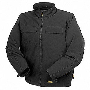 Men's Black Heated Jacket, Size: M, Battery Included: No