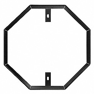 Sign Hardware,Aluminm,Blck,36 in Octagon