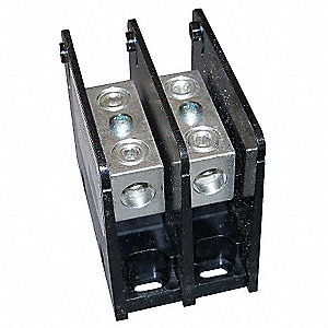 Power Distribution Block, 175 Max. Amps, Number of Poles: 2, Primary Wire Range (AWG): 14 to 2/0 AWG