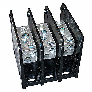 Power Distribution Block, 175 Max. Amps, Primary Connections/Pole: 1