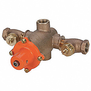 "1/2"" FNPT Inlet Type Mixing Valve, Bronze, 1 to 8.7 gpm"
