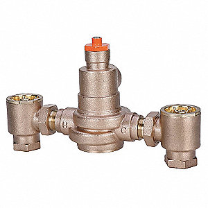 "1-1/4"" NPT Inlet Type Mixing Valve, Bronze, 3 to 83.2 gpm"