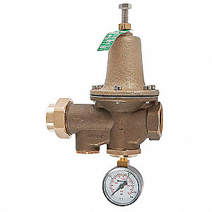 "Water Pressure Reducing Valve, Standard Valve Type, Lead Free Brass, 1/2"" Pipe Size"