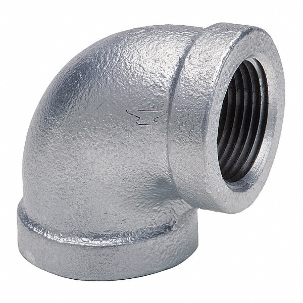 Anvil galvanized malleable iron elbow ° quot pipe