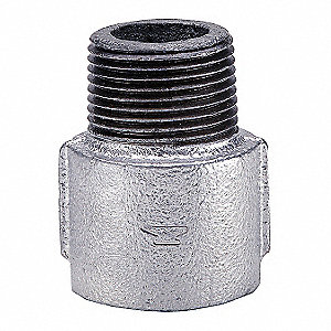 "Galvanized Malleable Iron Extension, 3/4"" Pipe Size, FNPT Connection Type"