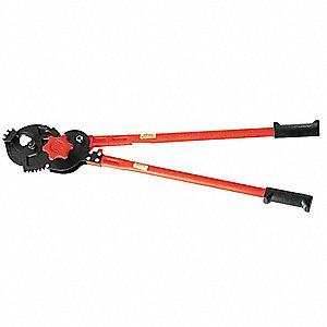 "Ratchet Cable Cutter,28"" Overall Length,Shear Cut Cutting Action,Primary Application:  Electrical Ca"