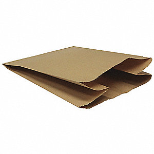 TRASH CAN LINER,BROWN,12 IN W,LDPE,