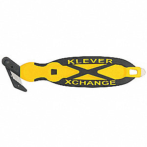 Safety Cutter,6-3/4 in.,Black/Yellow