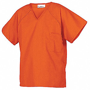 Inmate Shirts,Orange,PET/Ctn,2XL12 Pk