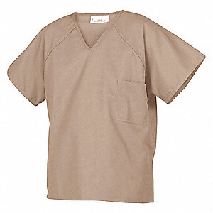 Inmate Shirt,Khaki,65 per PET/35 Ctn,2XL