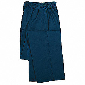 Men's Inmate Uniform Pants, 65% Polyester/35% Cotton, Color: Navy, Fits Waist Size: 46 to 50""