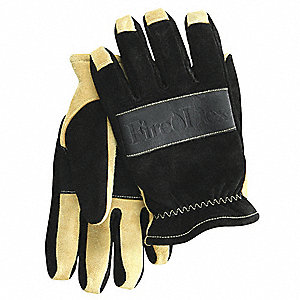 Firefighting Gloves,Black/Tan,M,PR