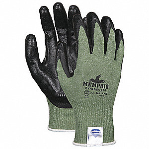Cut Resistant Glove,XL,Green/Black,PR