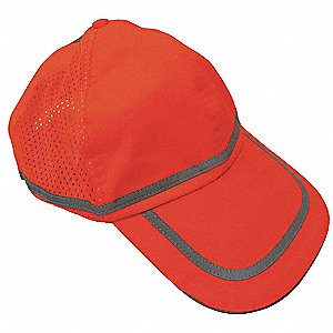 Baseball Cap,Polyester,Hi-Vis Orange
