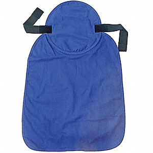 Hard Hat Pad, Evaporative Cooling, Cotton with Water Activated Beads, Blue