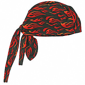 High-Performance Dew Rag, Moisture Wicking Fabric, Flames, Universal,1 EA