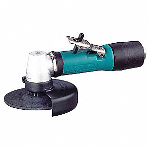 "12,000 rpm Free Speed, 4"" Wheel Dia. Angle Air Grinder, 0.40 HP"