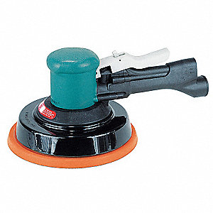 "Air Random Orbital Sander, 8"" Vinyl or Hook, 3/16"" Orbit Dia., Vacuum, 0.45 HP"