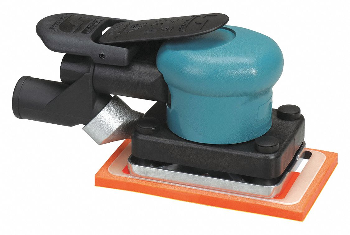 5 3/4 in Non-Vacuum Air Finishing Sander, 0.15 hp HP