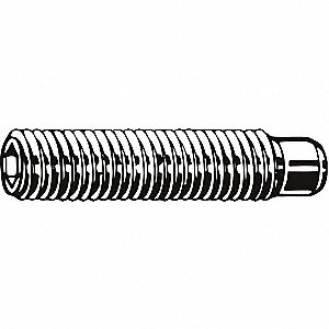 Socket Set Screw,Oval,6-32x3/8,PK100