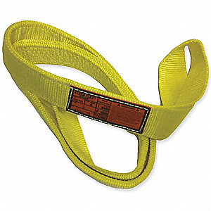8 ft. Heavy-Duty Nylon Twisted Eye and Eye Web Sling with 6400 lb. Vertical Hitch Capacity, Yellow