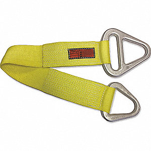 4 ft. Heavy-Duty Nylon Triangle and Choker Web Sling with 3200 lb. Vertical Hitch Capacity, Yellow