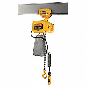 H4 Electric Chain Hoist, 10,000 lb. Load Capacity, 208/230/460V, 15 ft. Lift, 11 fpm