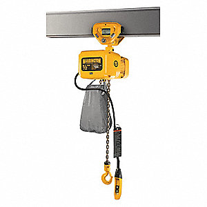 Elec. Chain Hoist w/Trolley,1000 lb.