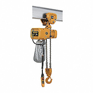 Elec. Chain Hoist w/Trolley,4000 lb.
