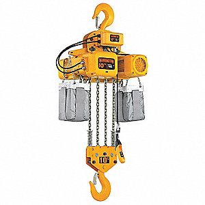 H4 Electric Chain Hoist, 20,000 lb. Load Capacity, 208/230/460V, 10 ft. Hoist Lift, 11 fpm