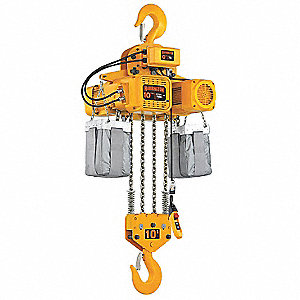H4 Electric Chain Hoist, 20,000 lb. Load Capacity, 460V, 20 ft. Hoist Lift, 11/3.5 fpm